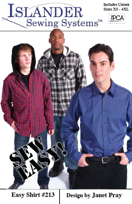 """Easy Shirt Basic 44"""" Kit, (WITHOUT PATTERN) View C, XS-L - (Retail Value $83.92)"""