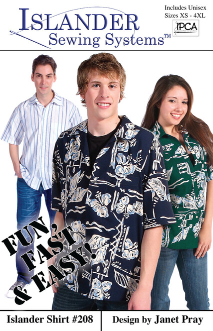Unisex Islander Shirt Pattern, BONUS: video pattern guide!