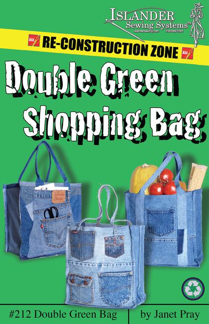 C - Double Green Shopping Bag