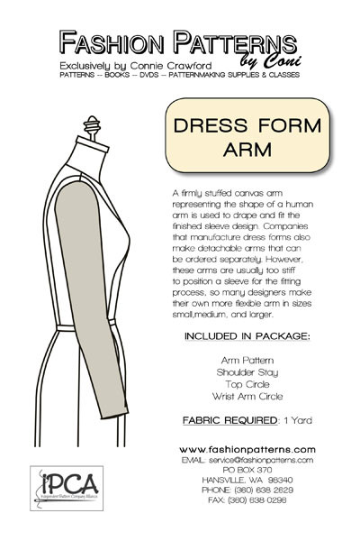Dress Form Arm Pattern