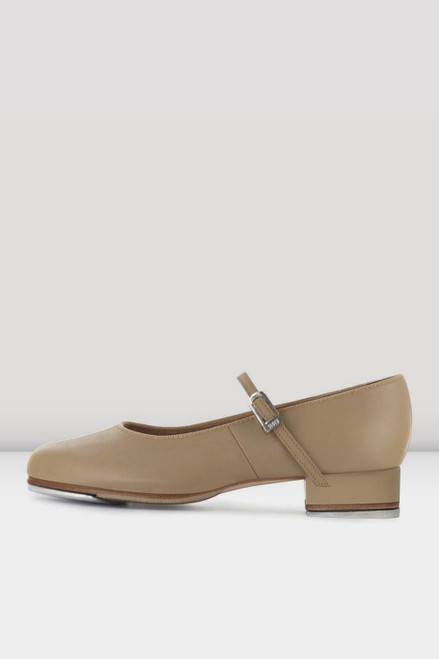 Ladies Tap On Tap Shoe Tan Leather