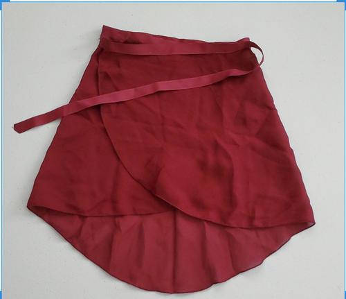 Adult Medium Maroon Skirt Wrap