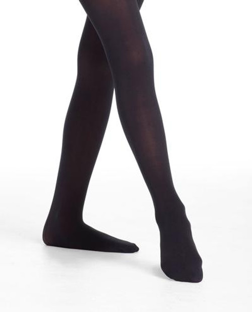 Footed Child Black Tights