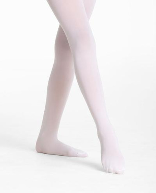 Footed Child/Adult White Tights