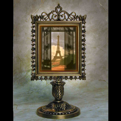 Eiffel Tower Colored Lithophane Victorian Lamp