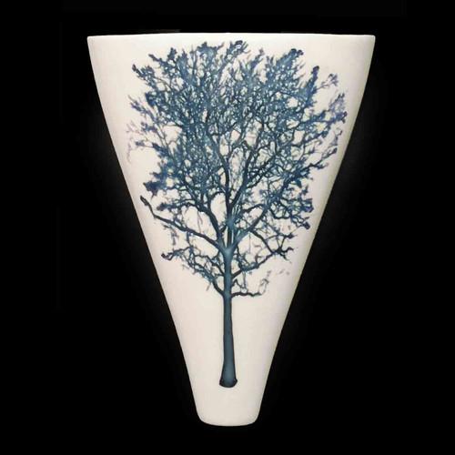 TREE-BLUE ON WHITE