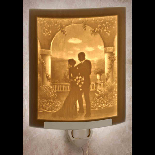 I DO CURVED LITHOPHANE WEDDING NIGHT LIGHT