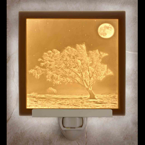 FROSTY MOON LITHOPHANE NIGHT LIGHT