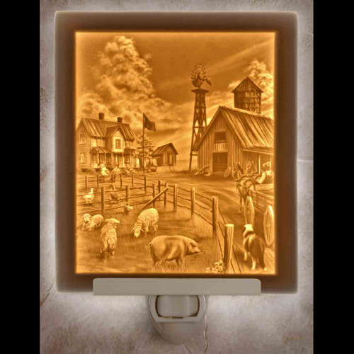 FARM LIFE- FLAT NIGHT LIGHT