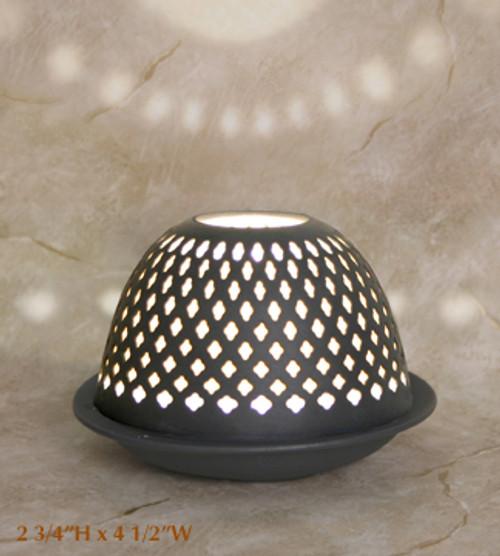 """Silhouette Porcelain Votive Candle Dome """"Sydney"""""""