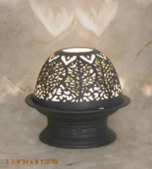 """Silhouette Porcelain Votive Dome Lamp """"Vermont"""""""