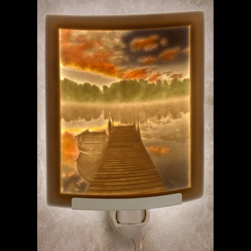 PIERSIDE MORNING-COLORED CURED NIGHT LIGHT