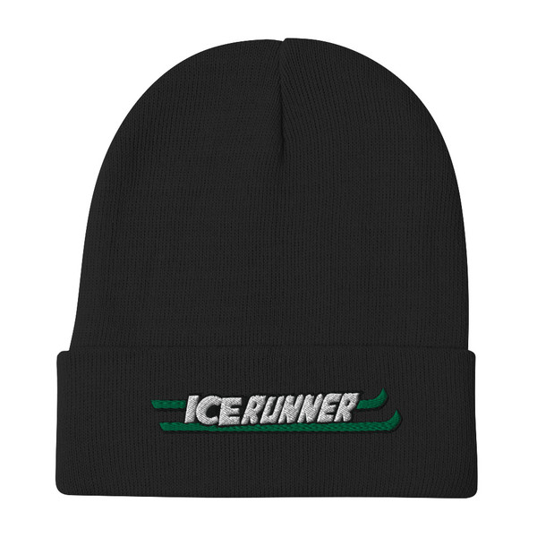 Ice Runner Embroidered Beanie