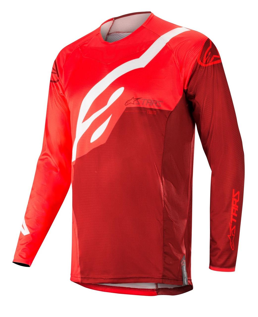 2019 Alpinestars Techstar Factory Jersey Red Burgundy bf5581f23