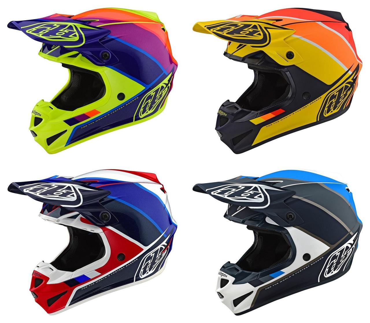 2019 Troy Lee Designs TLD Adult SE4 Polyacrylite Factory Helmet Yellow MX Moto