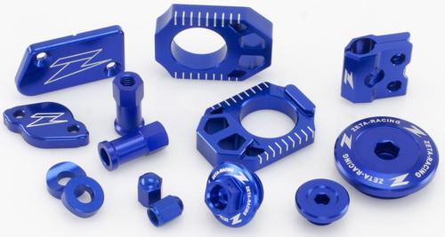 ZETA Billet Kit KXF250 17 & KXF450 16-17 (res covers/wheel kit/engine kit) Blue