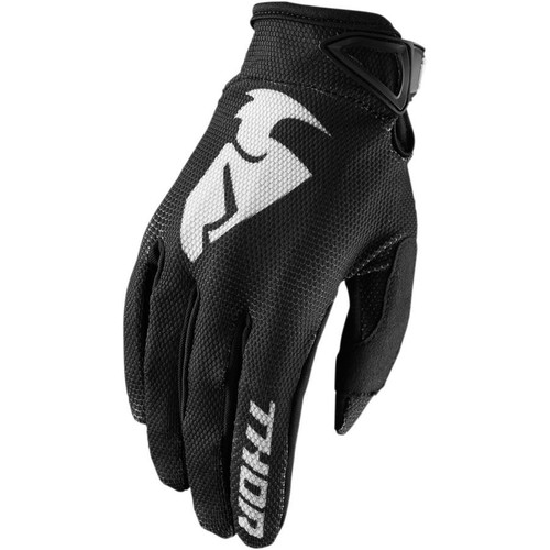 2018 Thor MX Youth/Kids Sector Gloves Zones Black