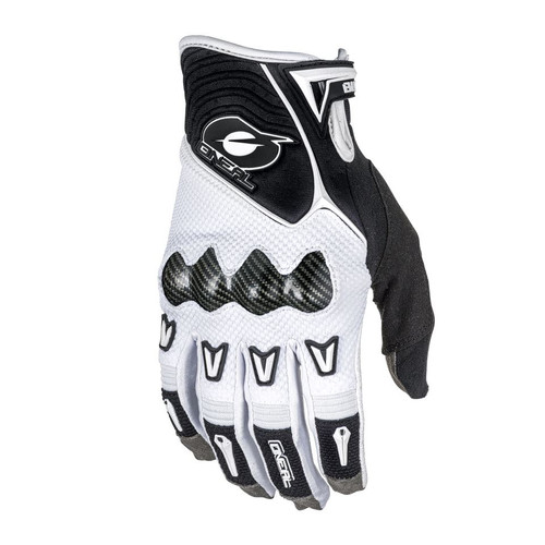 2018 O'Neal Butch Carbon MTB Gloves White