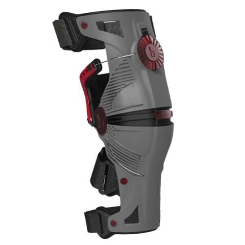 Mobius X8 Knee Braces Storm Grey/Crimson
