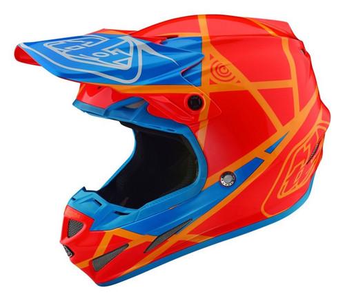 2018 Troy Lee Designs TLD SE4 18.1 Comp Metric MX Helmet Honey/Orange