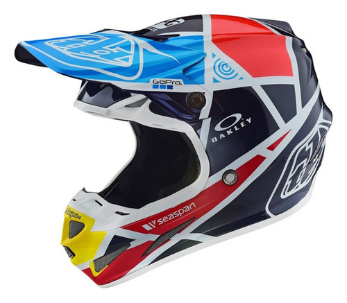 2018 Troy Lee Designs TLD SE4 18.1 MX Helmet Carbon Metric Navy