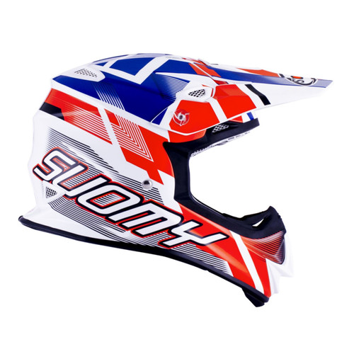 Suomy Mr Jump MX Helmet Special White/Red/Blue