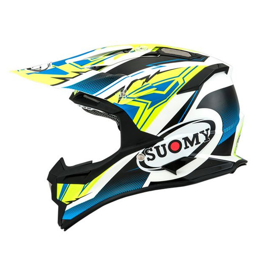Suomy Alpha MX Helmet Waves Matt Yellow/White