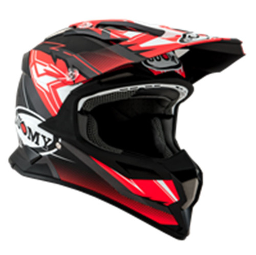 Suomy Alpha MX Helmet Waves Matt Red/Silver