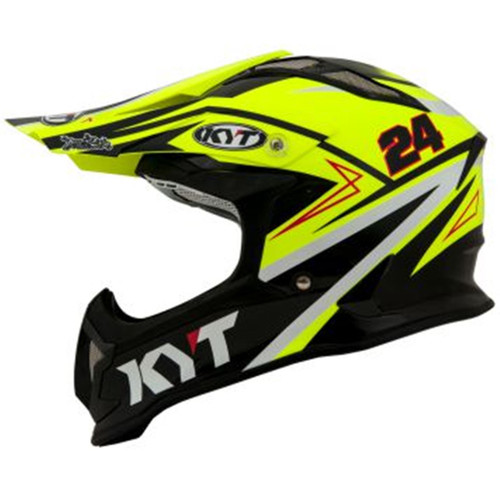 KYT Strike MX Helmet Eagle Simpson Replica Yellow