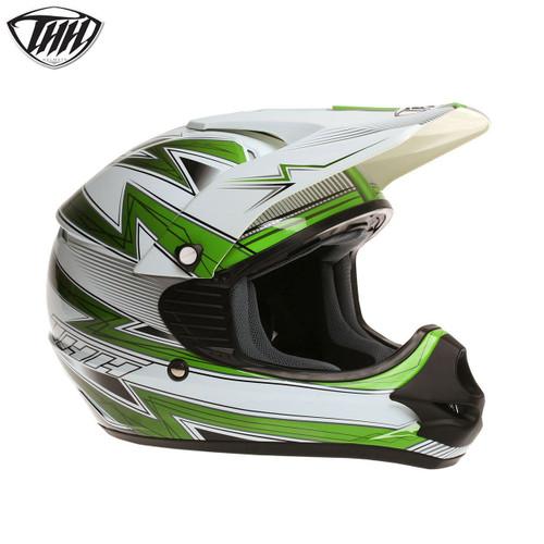 THH TX11 Youth Helmet Lightning White/Green