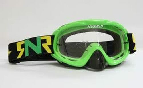 Rip n Roll Hybrid Tear Off Goggles Lime Green w/Clear Lens