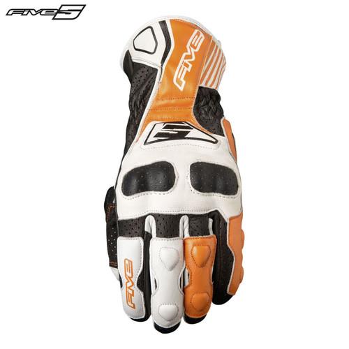 Five RFX4 Replica Adult Gloves White/Orange