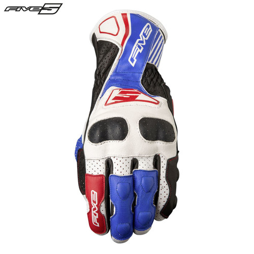 Five RFX4 Replica Adult Gloves White/Blue