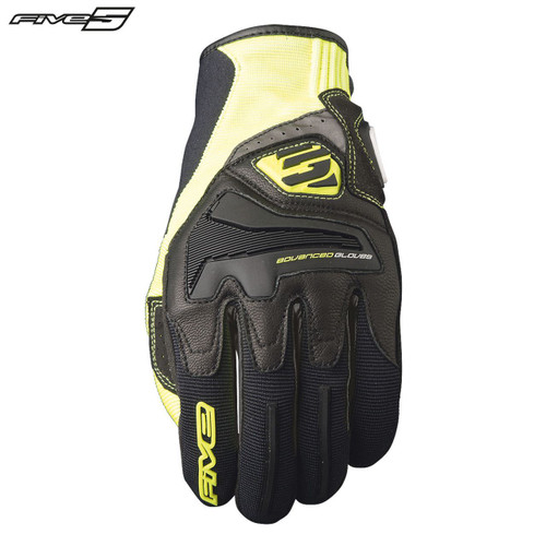 Five RS4 Adult Gloves Black/Flo Yellow
