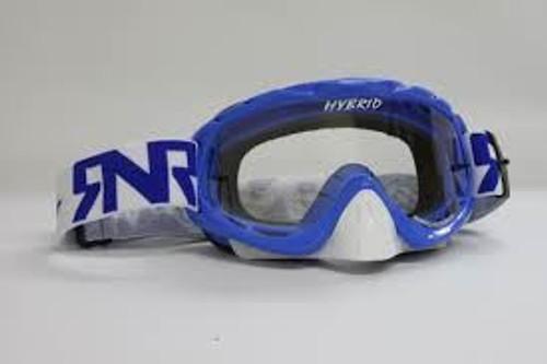 Rip n Roll Hybrid Tear Off Goggles Nobo Blue w/Clear Lens