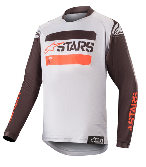 2019 Alpinestars Youth Racer Tactical MX Jersey Black/Grey/Red Flou