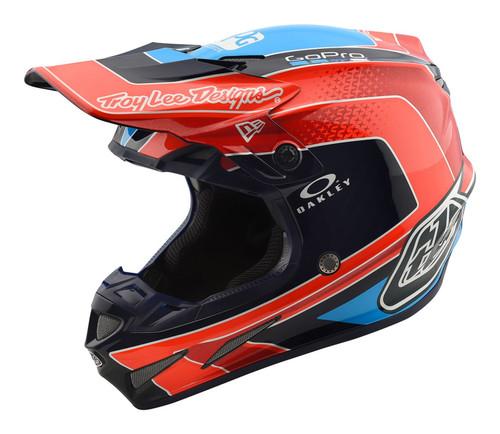 2018 Troy Lee Designs TLD SE4 Carbon MX Helmet Squadra Team Orange
