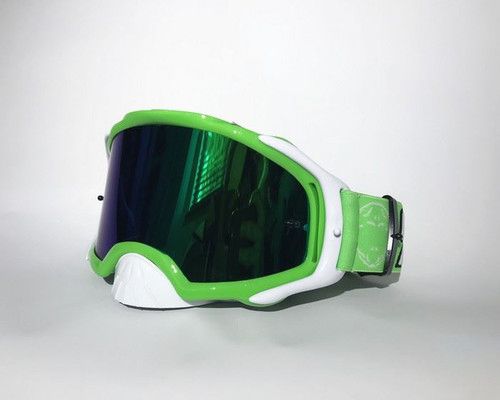 Rip And Roll Platinum MX Goggles Mirrored Green
