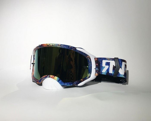 Rip And Roll RNR Platinum MX goggles Mirrored Oil Slick