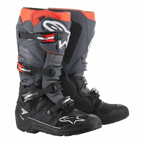 Alpinestars Tech 7 Enduro Boots Black/Gray/Red Flou