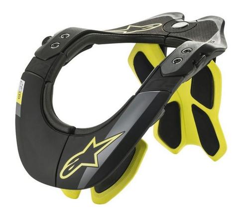 2019 Alpinestars Adult BNS Tech-2 Neck Brace Black/Yellow Flou