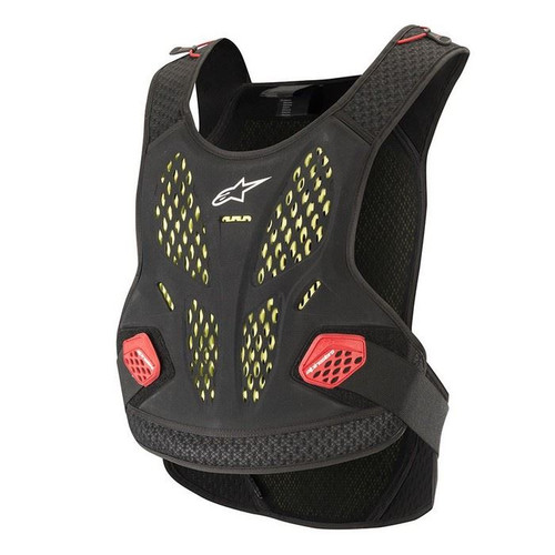2019 Alpinestars Men's Adult Sequence Chest Protector Anthracite/Red