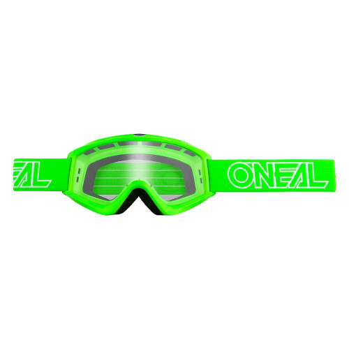 ONEAL B-Zero Goggle green w/Clear Lens