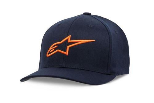 Alpinestars Mens Baseball Cap Hat Ageless Curve Navy/Orange