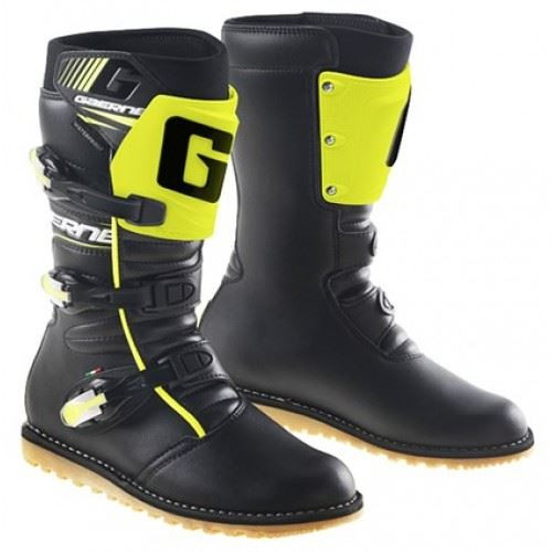 GAERNE CLASSIC BLACK/YELLOW FLUO TRIALS BOOTS