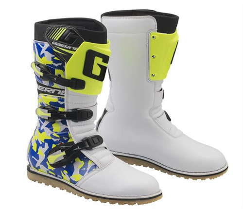 Gaerne Classic Trials Boots Camo Blue/Yellow