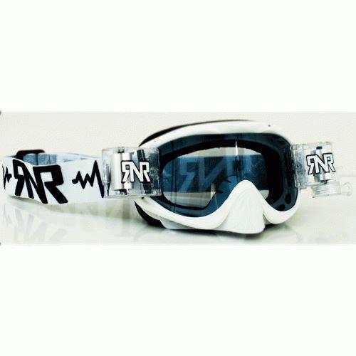 Rip N Roll RNR Platino Motocross wvs Roll Off Goggles Negro Enduro MX 48 mm