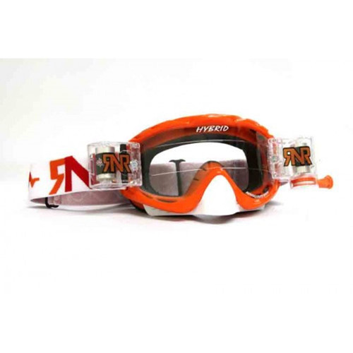 Rip n Roll Hybrid Fully Loaded MX Goggles Seville Orange Motocross Off-Road