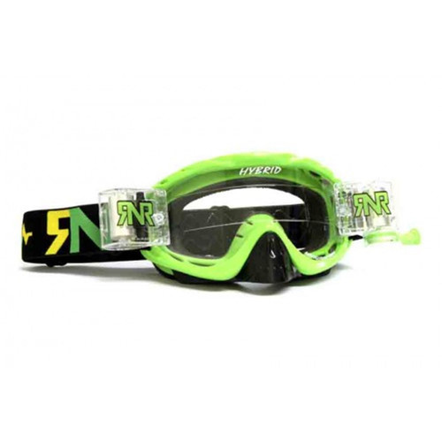 Rip n Roll Hybrid Fully Loaded MX goggles Lime Green Motocross Off-Road