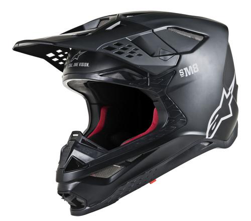 2019 Alpinestars Men's Supertech S-M8 Solid MX Helmet Black Matt